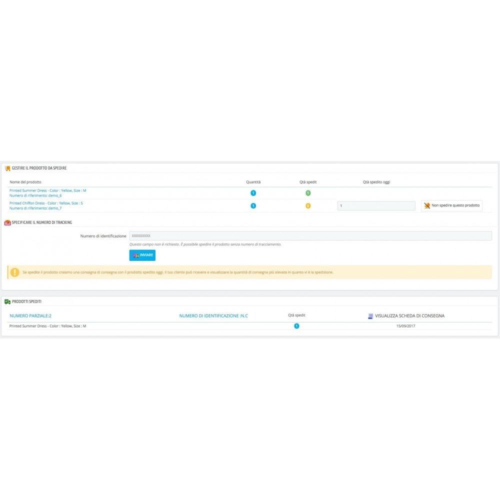 module - Gestione Ordini - Consegna parziale (saldo degli ordini) - 3