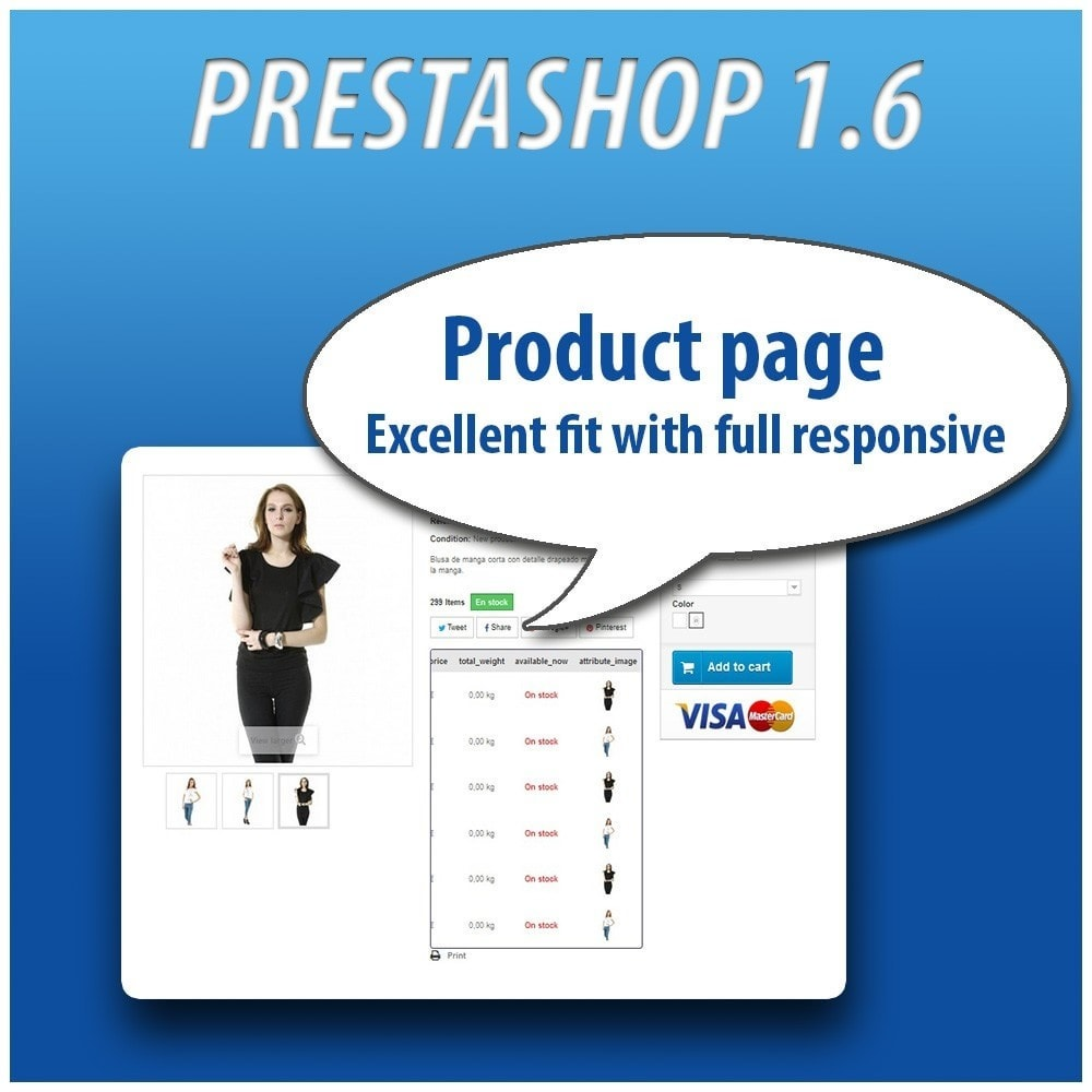 module - Versies & Personalisering van producten - Combinations Table PRO - 9