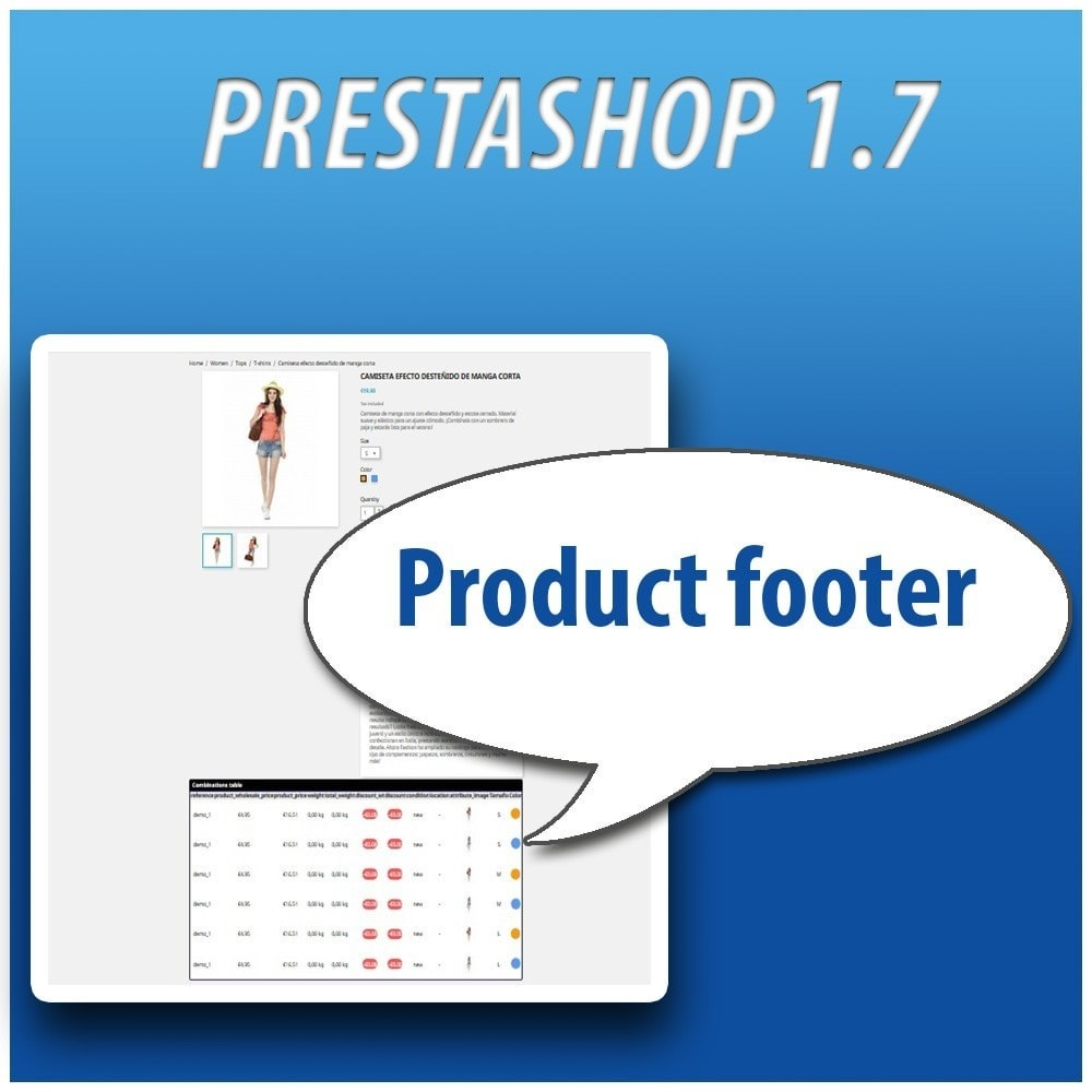 module - Versies & Personalisering van producten - Combinations Table PRO - 13