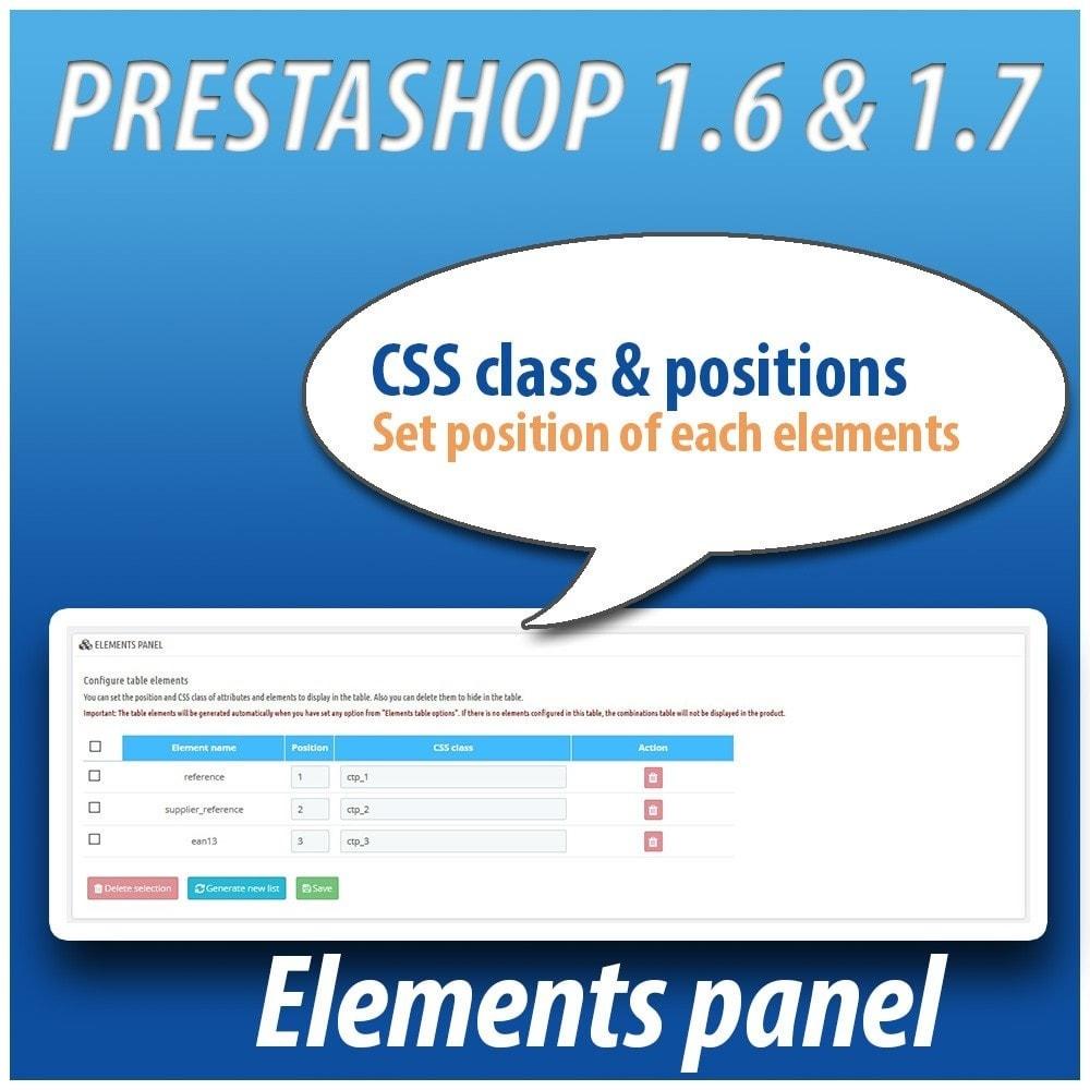 module - Combinaciones y Personalización de productos - Combinations Table PRO - 1
