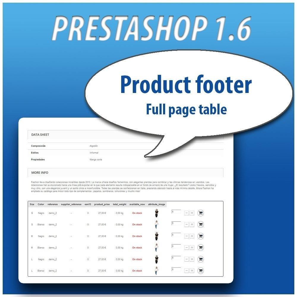 module - Combinaciones y Personalización de productos - Combinations Table PRO - 8