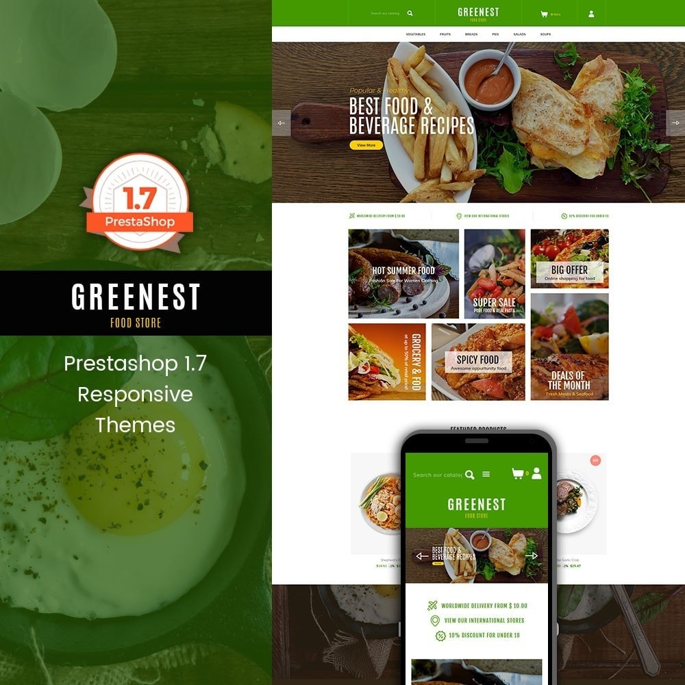 theme - Food & Restaurant - Greenest - Food Store - 1