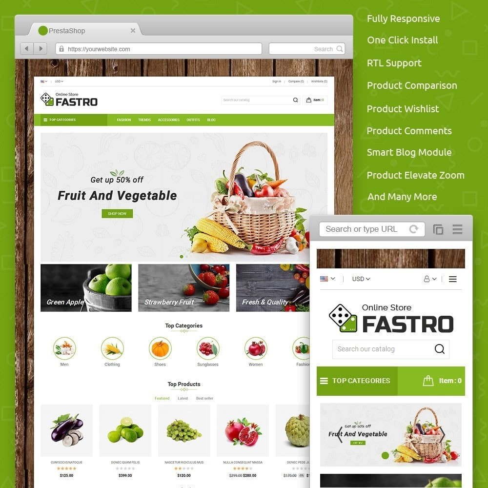 theme - Lebensmittel & Restaurants - Fastro Grocery Store - 1