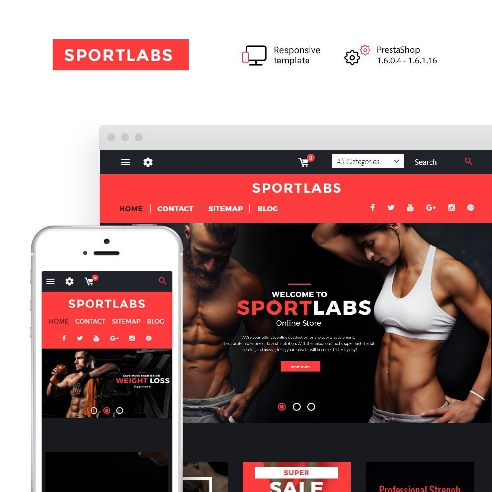 theme - Sports, Activities & Travel - SportLabs - 1