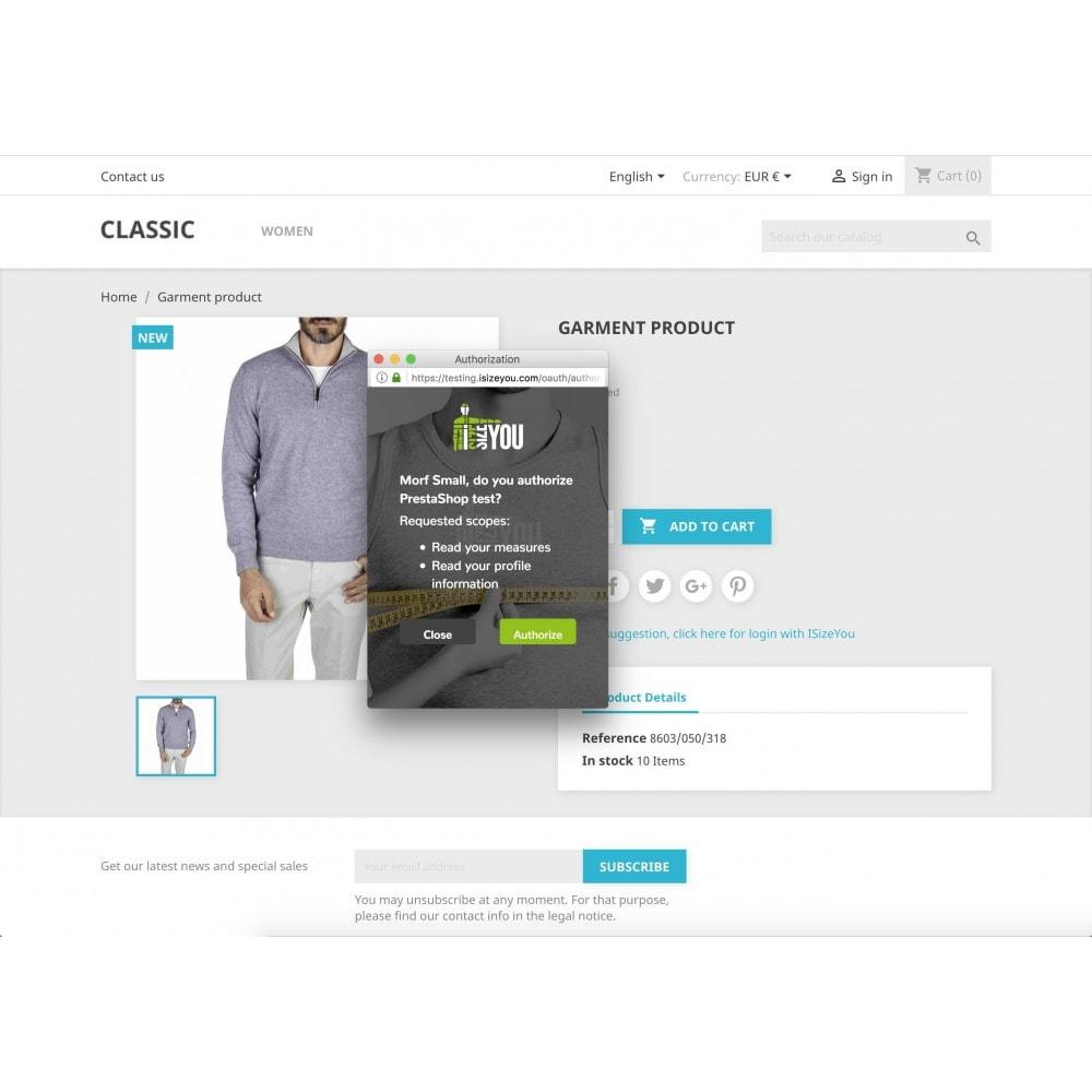 module - Grandezze & Unità di misura - ISizeYou - La taglia perfetta per ogni marca o negozio - 2
