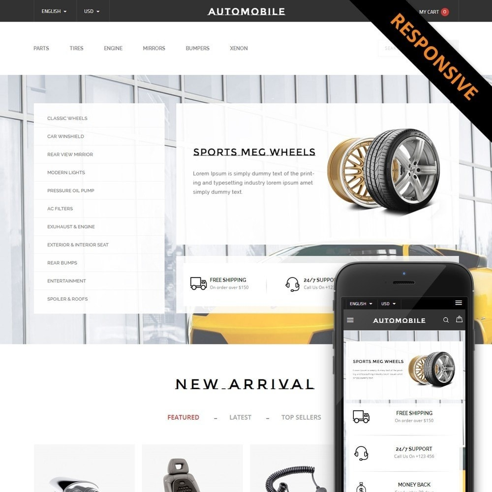 theme - Samochody - AutoParts Store - 1