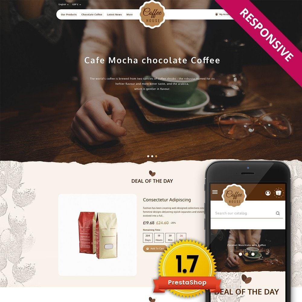 theme - Food & Restaurant - Coffeehouse Beverage Store - 1