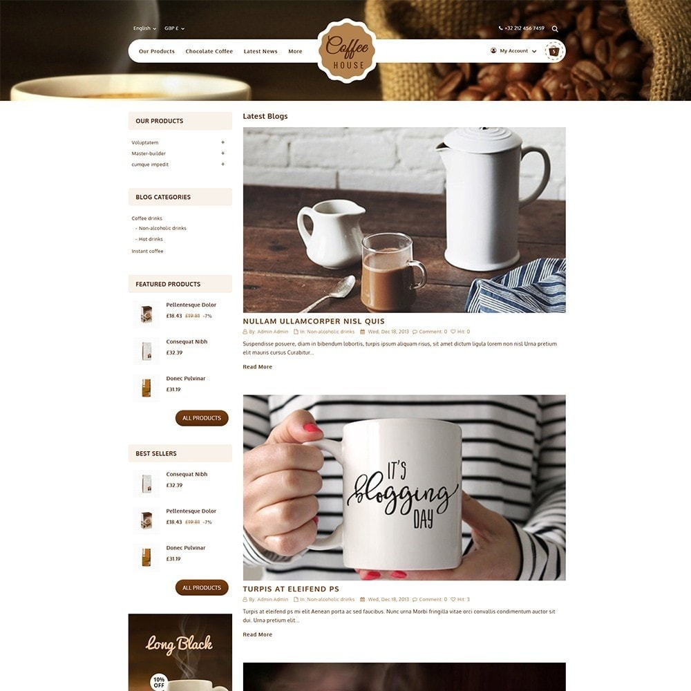 theme - Food & Restaurant - Coffeehouse Beverage Store - 6