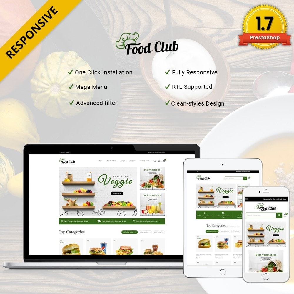 theme - Food & Restaurant - Foodclub Store - 1