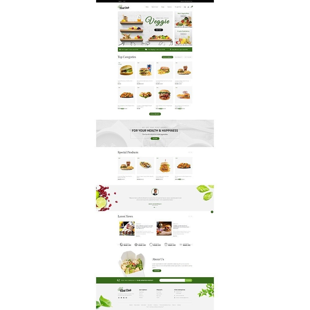 theme - Alimentation & Restauration - Foodclub Store - 2