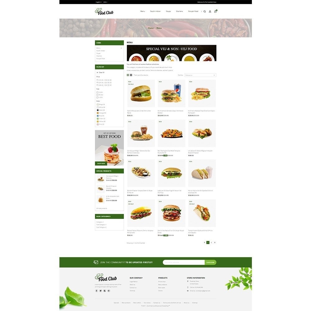 theme - Food & Restaurant - Foodclub Store - 3