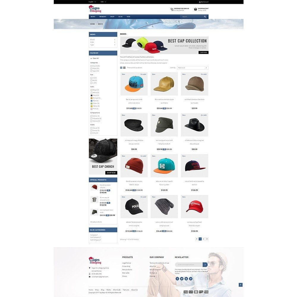 theme - Moda y Calzado - Caps for shopping Store - 3