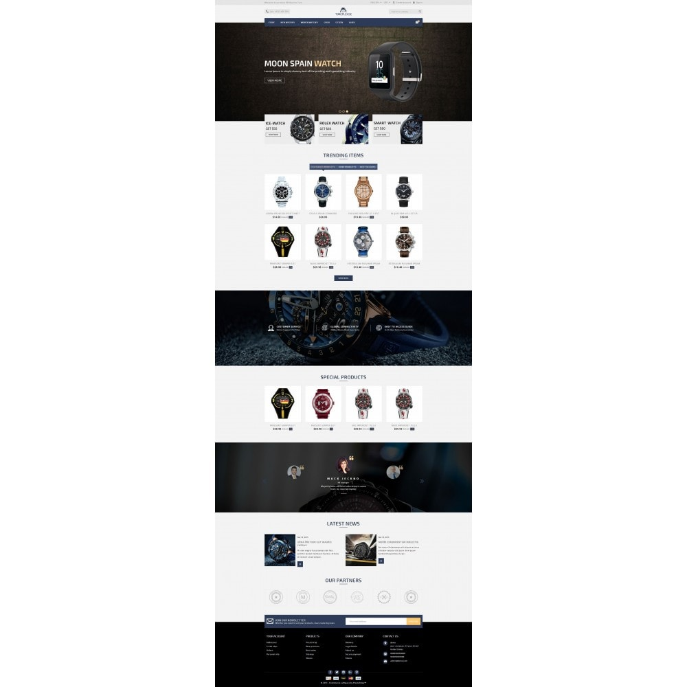 theme - Bellezza & Gioielli - Timeplease - Watchstore Template - 2