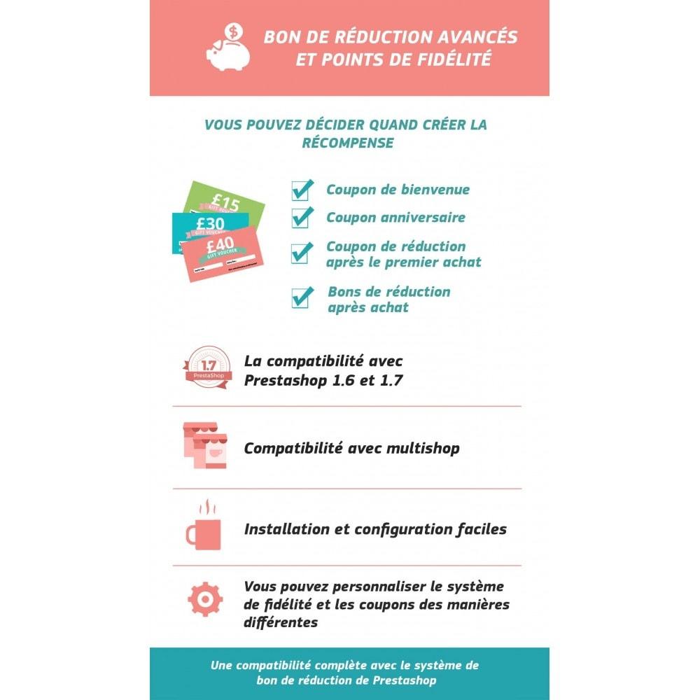 module - Bons de réduction sur les réseaux sociaux - Bon de réduction avancés et points de fidélité - 1