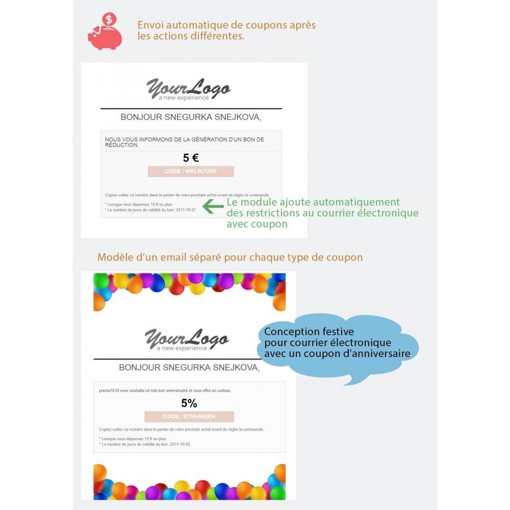 module - Bons de réduction sur les réseaux sociaux - Bon de réduction avancés et points de fidélité - 12