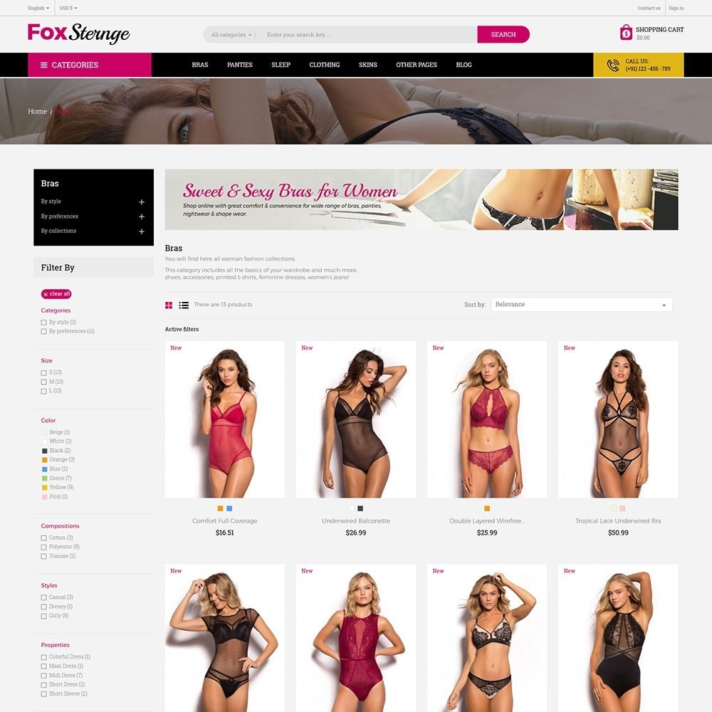 theme - Mode & Schuhe - Lingerie - Fashion Store - 4