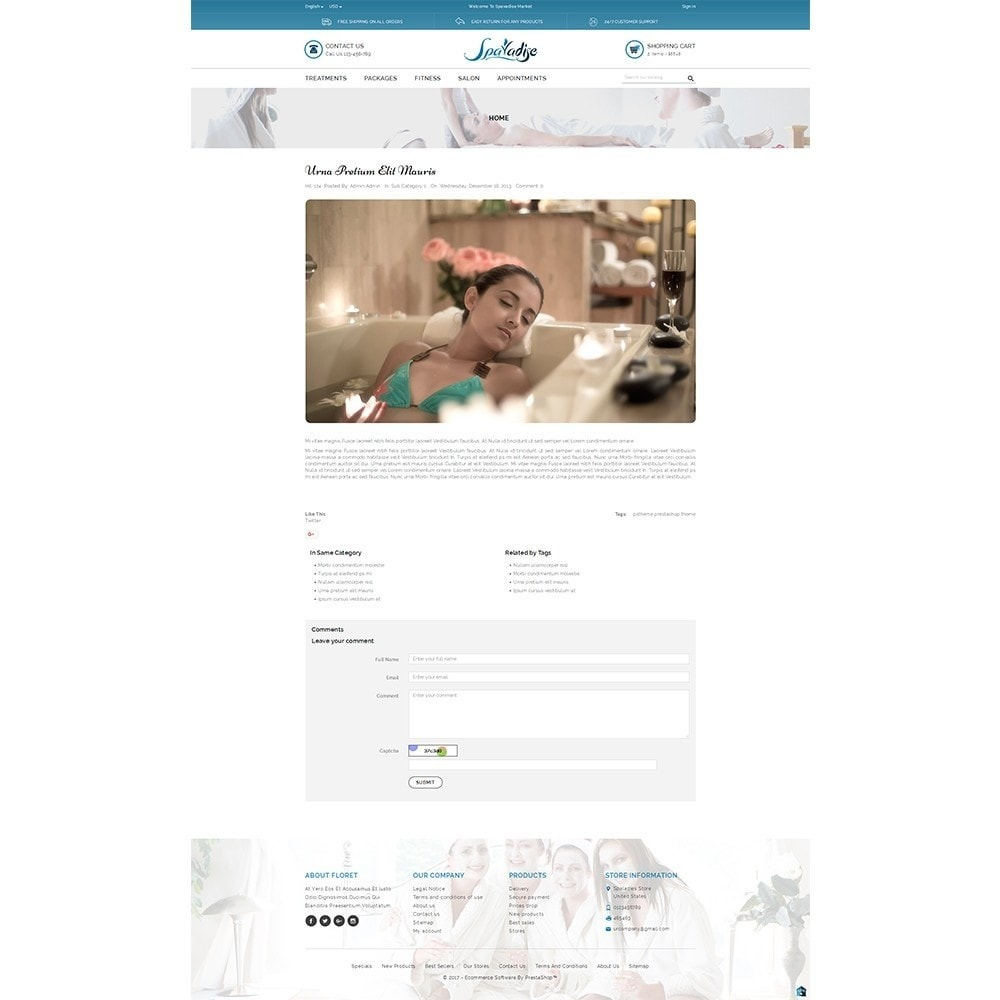 theme - Health & Beauty - Spaladies Store - 8