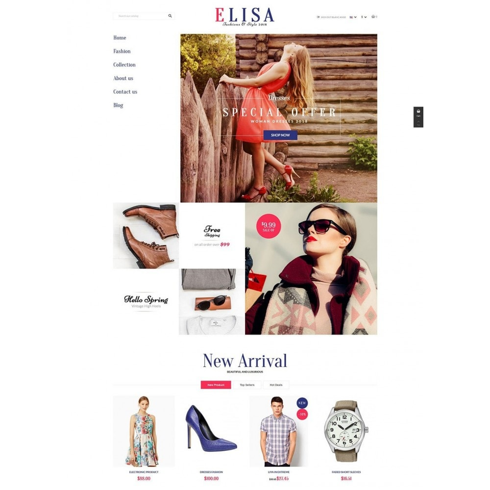 theme - Moda & Calzature - Elisa Fashion - 2