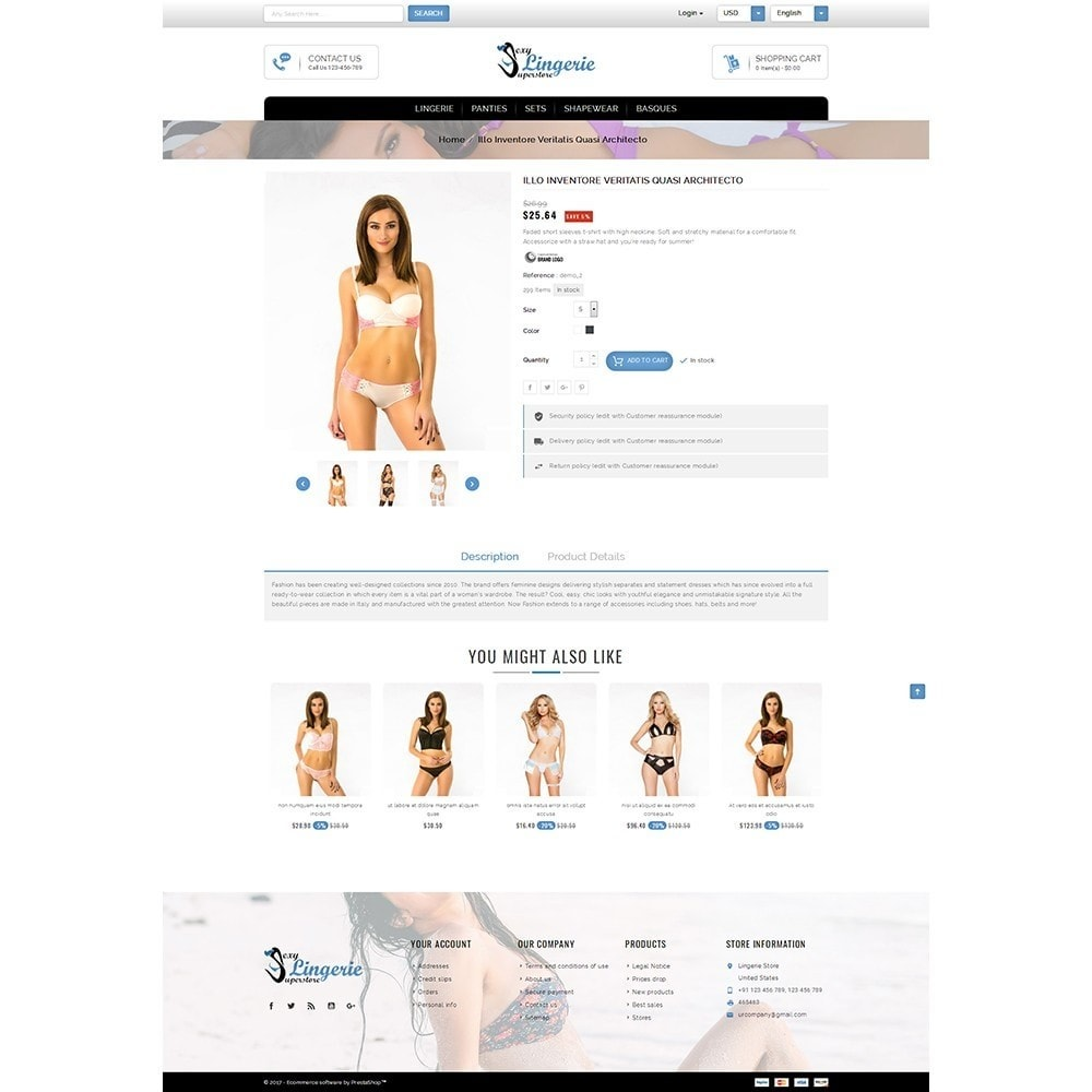 theme - Lenceria y Adultos - Sexy Lingerie uperstore - 5