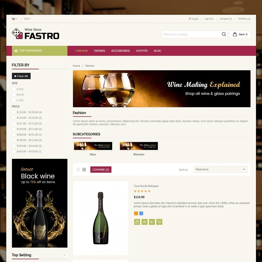 theme - Drink & Tobacco - Fastro Wine Store - 4