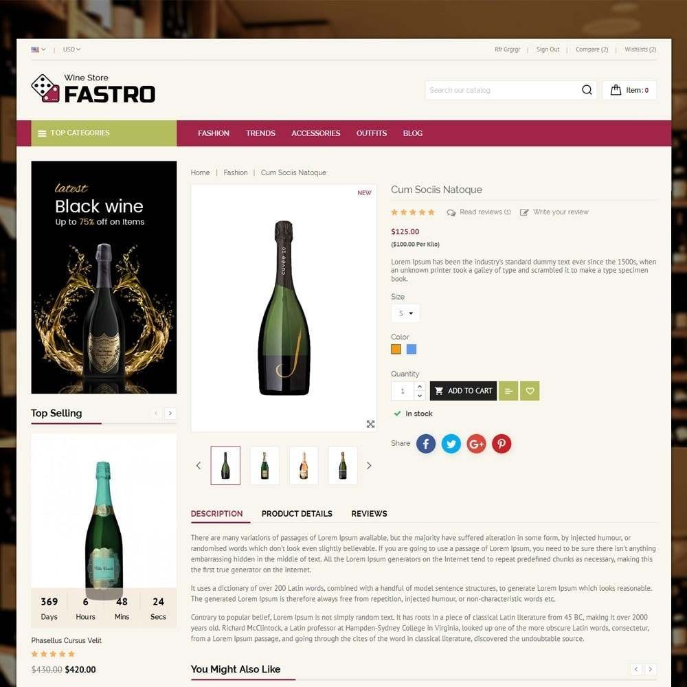 theme - Drink & Tobacco - Fastro Wine Store - 5