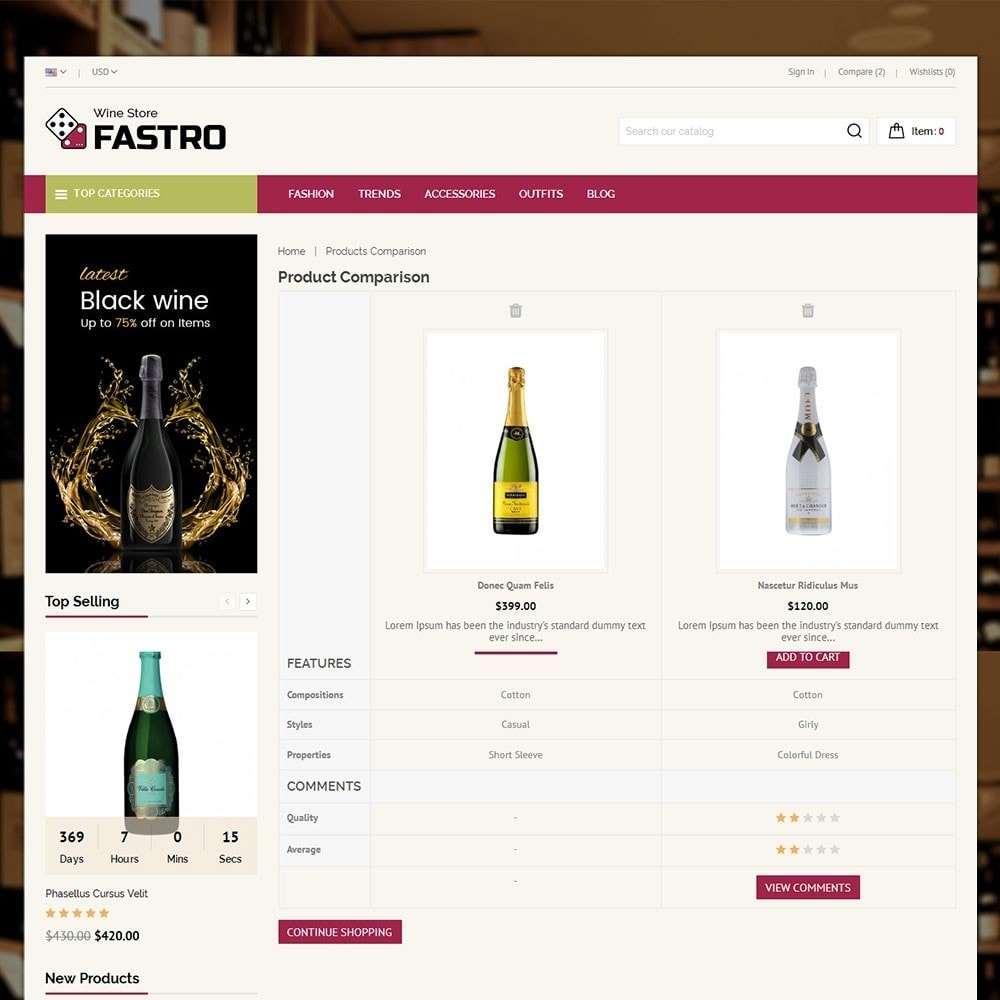 theme - Drink & Tobacco - Fastro Wine Store - 7
