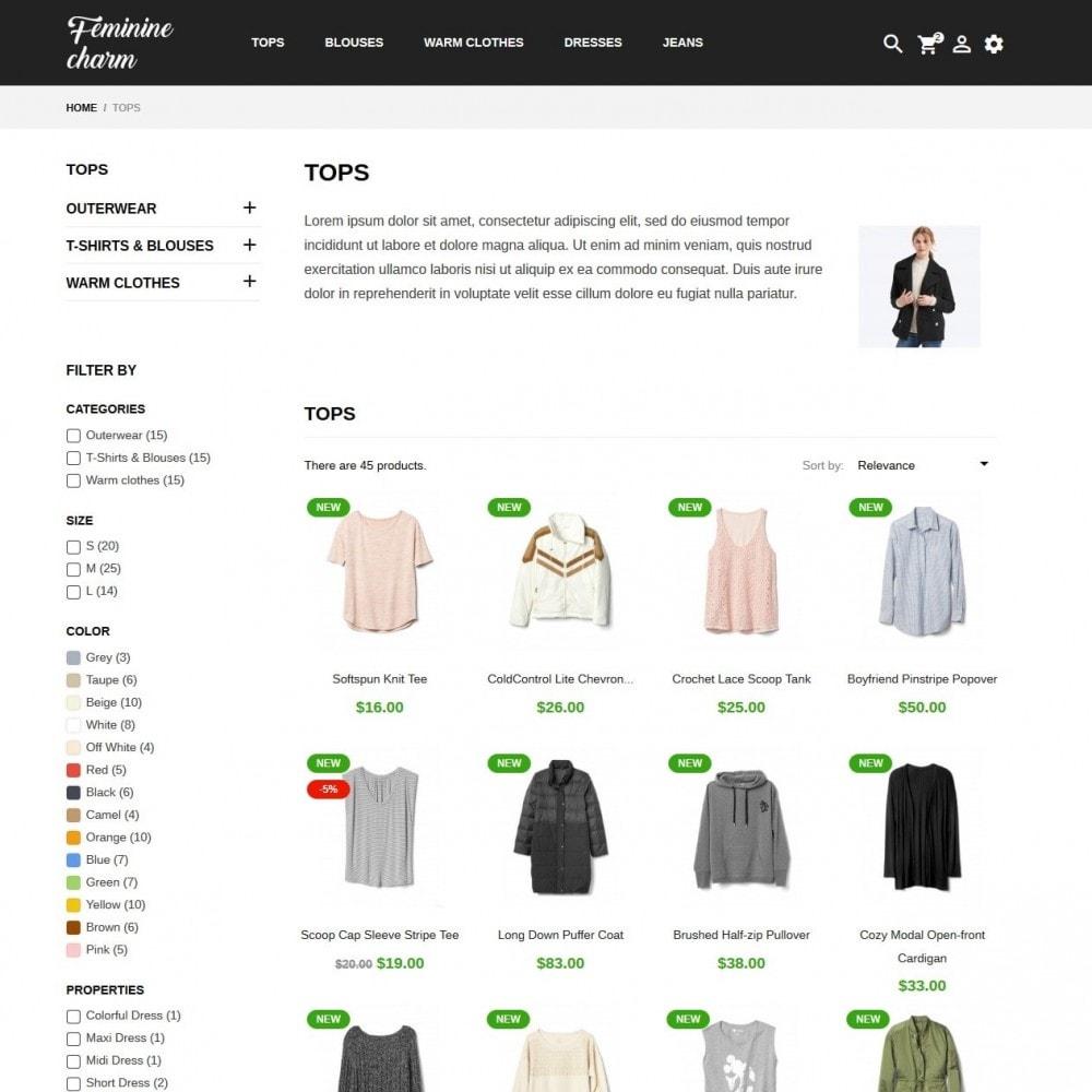 theme - Moda & Calçados - Feminine Charm - 5