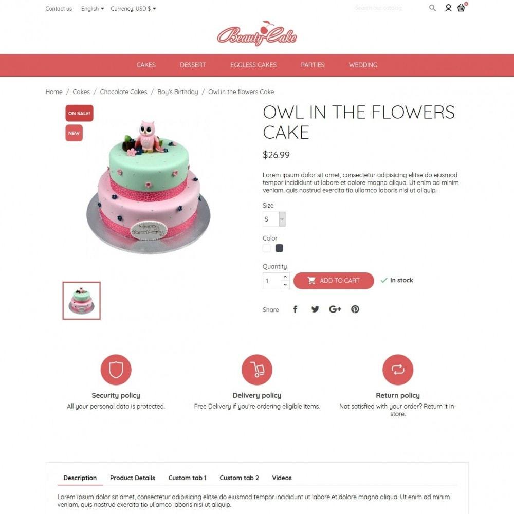theme - Żywność & Restauracje - BeautyCake - 6