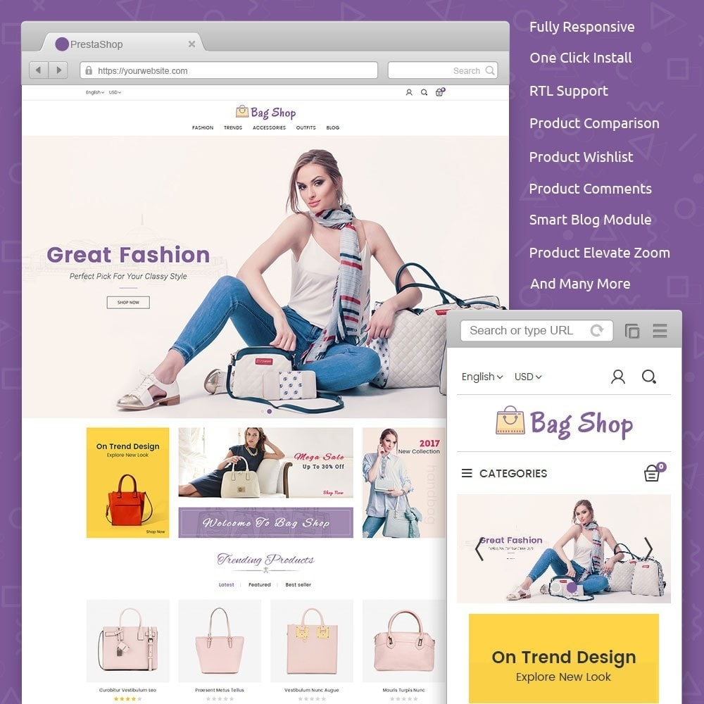 theme - Moda & Obuwie - Bag Shop - 1