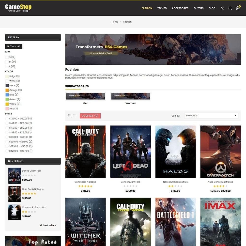 theme - Sport, Rozrywka & Podróże - Game Store - 3