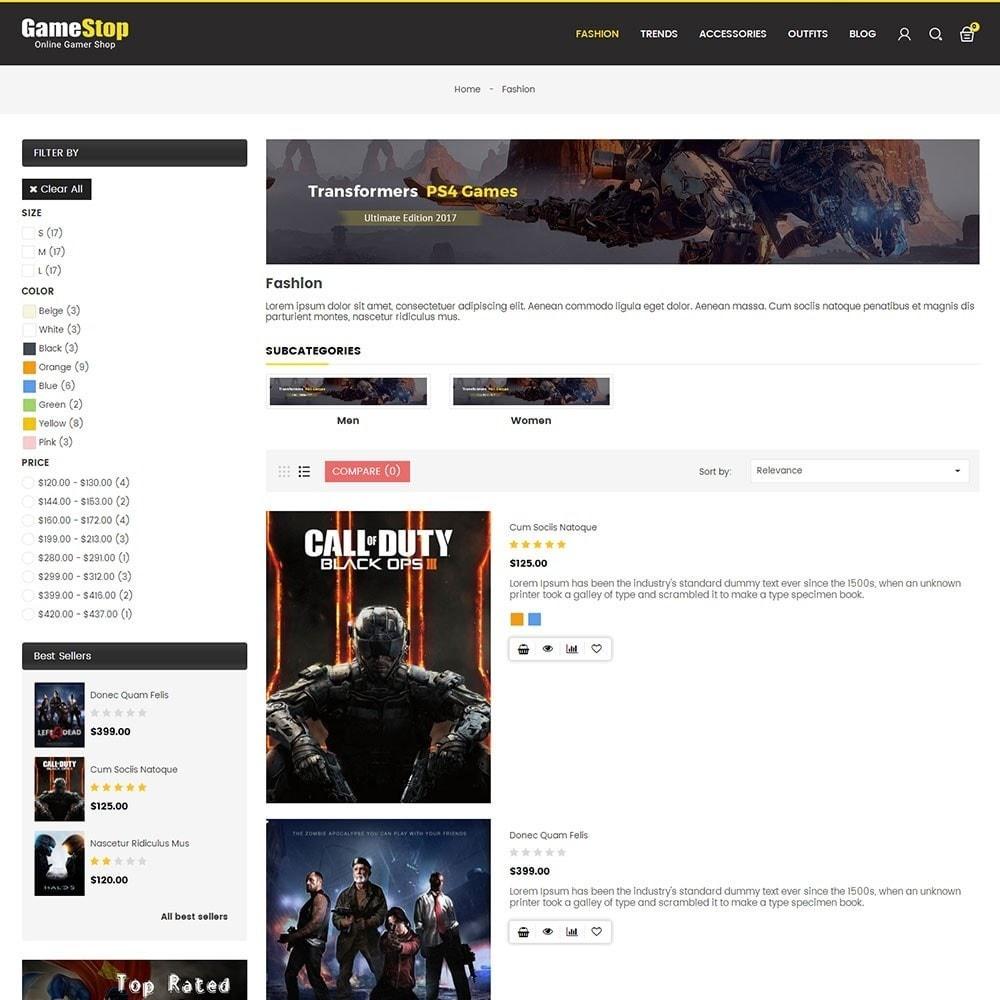theme - Sport, Rozrywka & Podróże - Game Store - 4