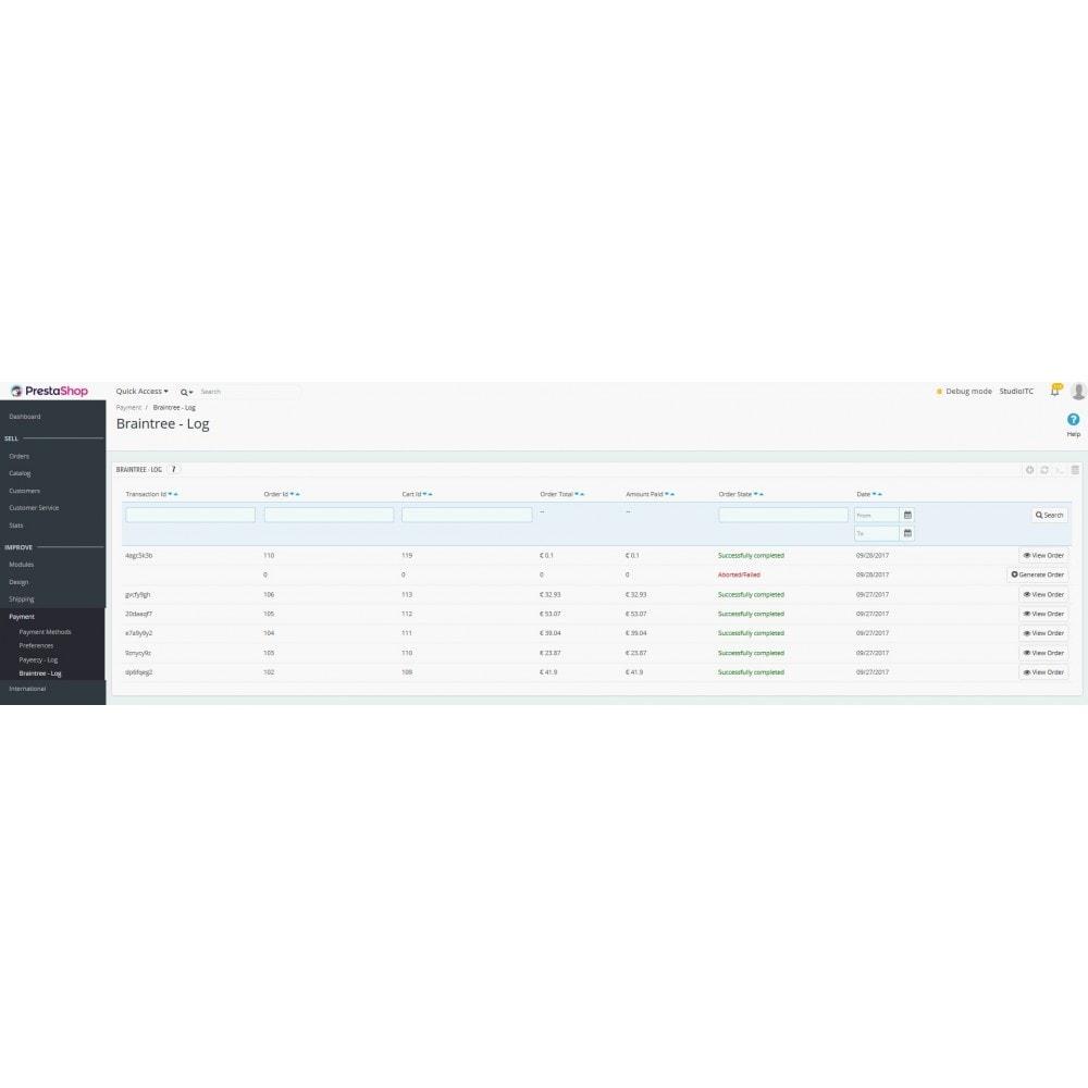 module - Pago con Tarjeta o Carteras digitales - Braintree PayPal Company payment - 4