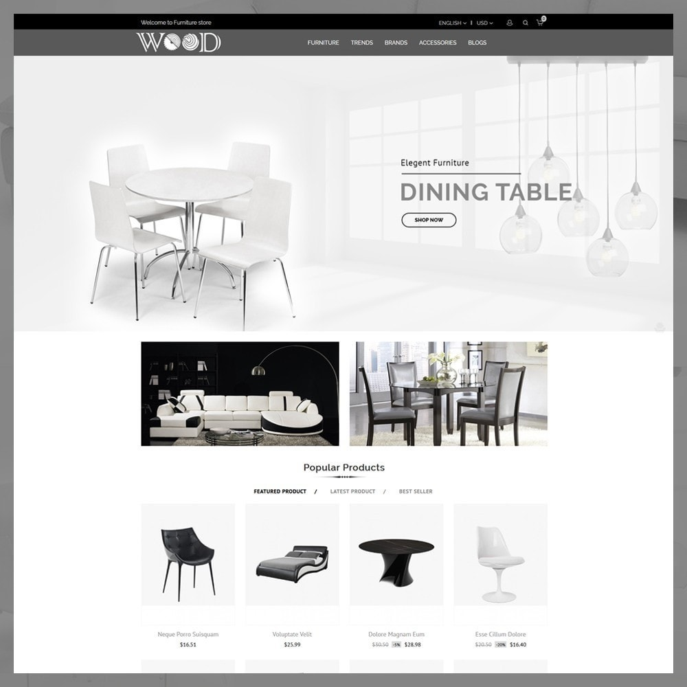 theme - Дом и сад - Wood Furniture Store - 2