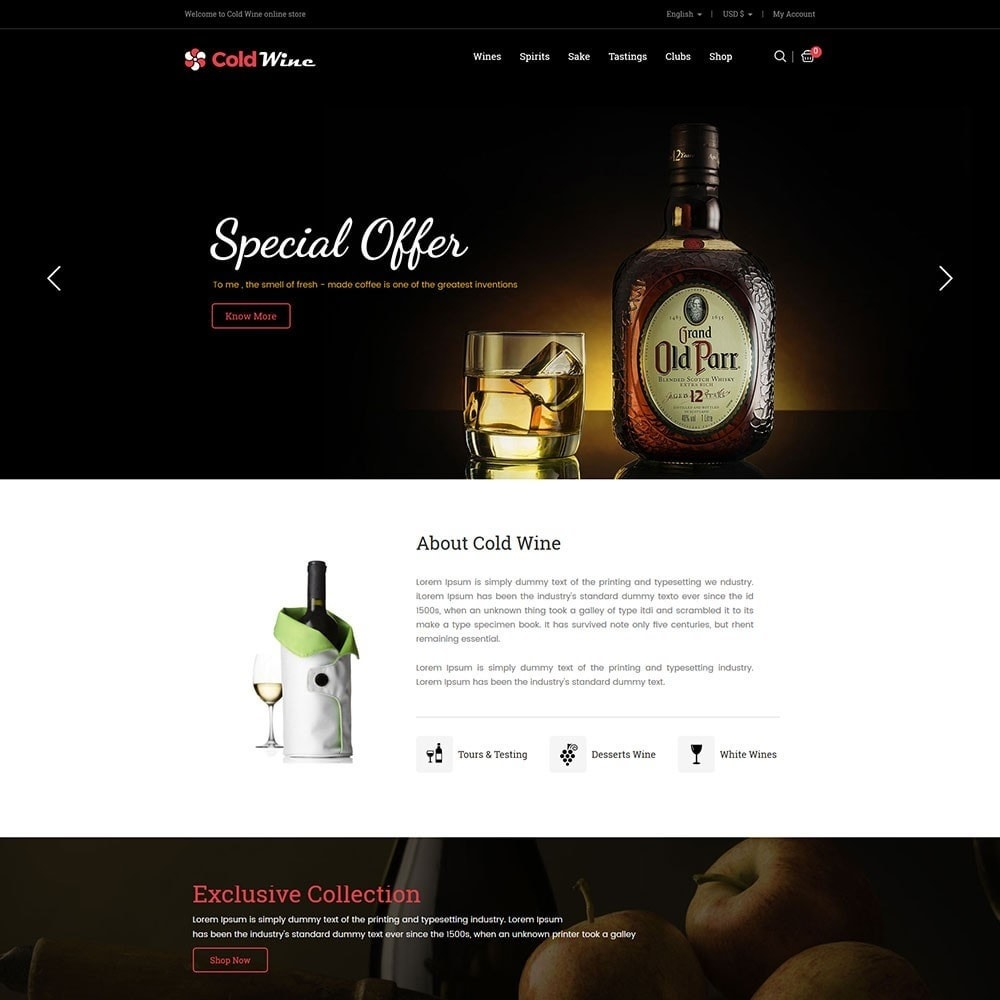 theme - Drink & Tobacco - Coldwine - Wine Store - 2