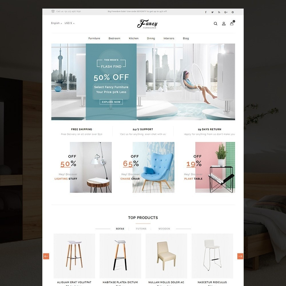 theme - Дом и сад - Fancy Furniture Online Store - 2