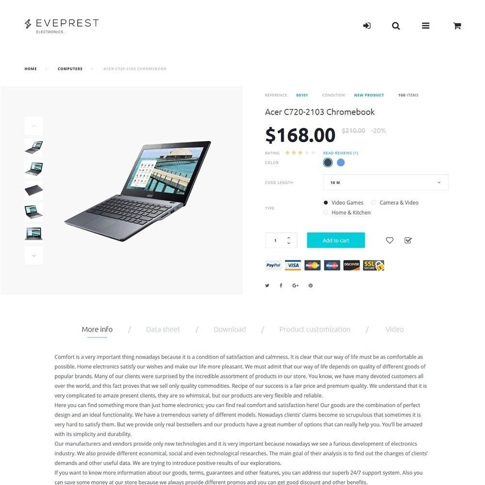 theme - Elettronica & High Tech - Eveprest -  per Un Sito di Negozio di Elettronica - 7