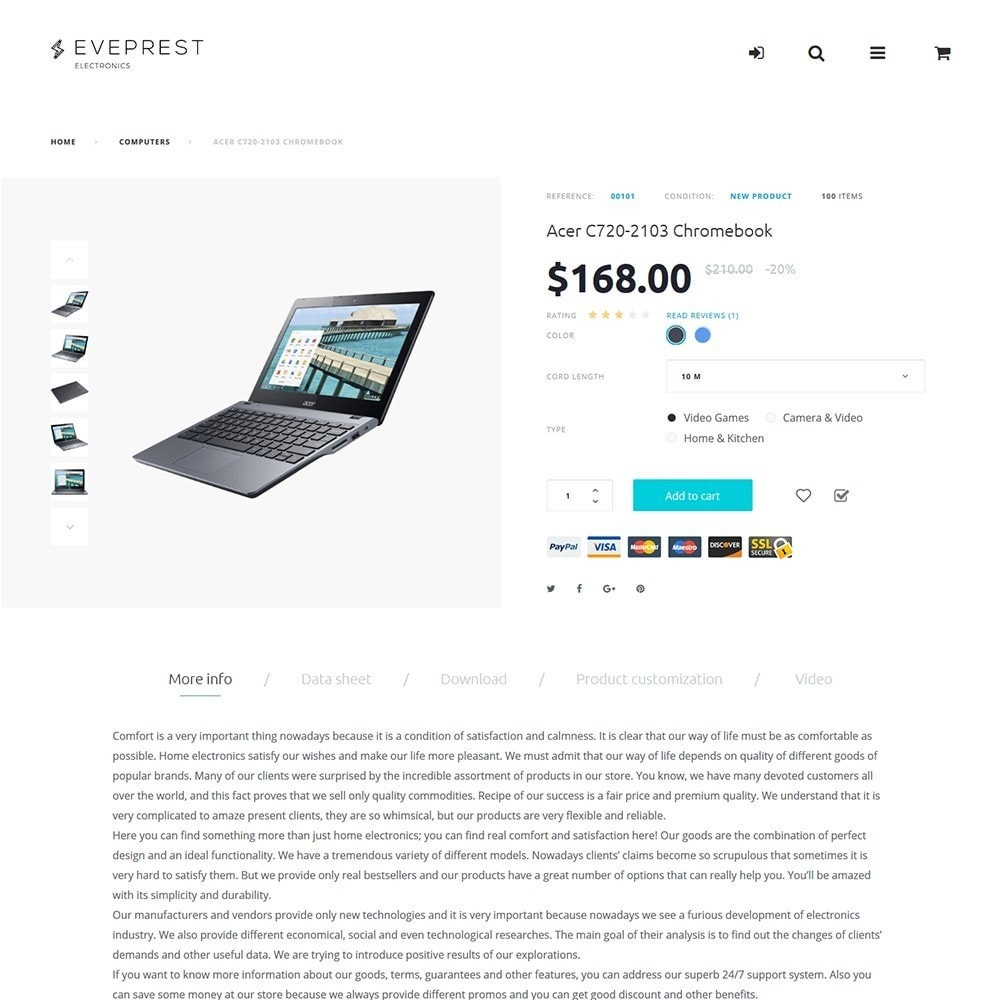 theme - Электроника и компьютеры - Eveprest -  PrestaShop шаблон магазина электроники - 6