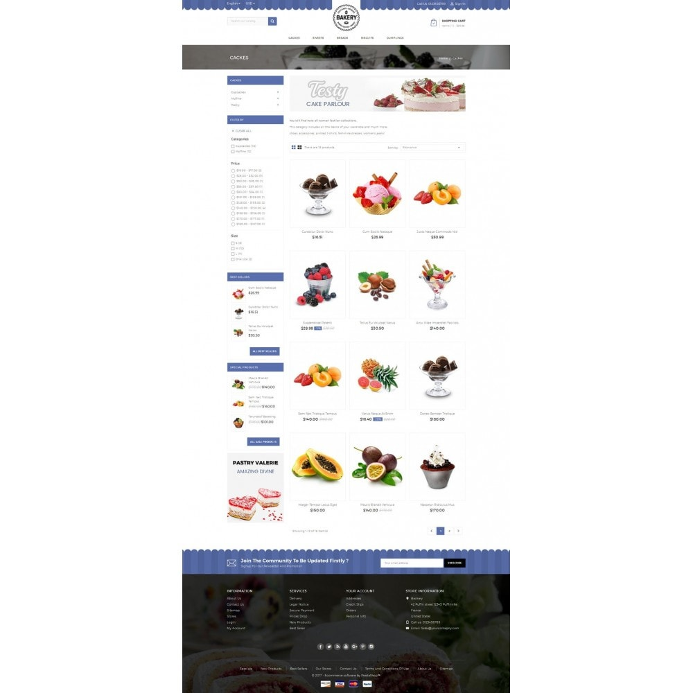 theme - Food & Restaurant - Online Bakery Store - 3