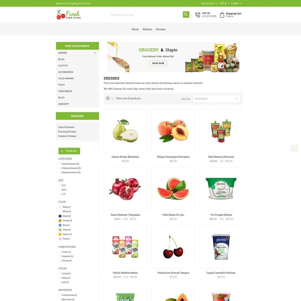 theme - Eten & Restaurant - Fresh Food Store - 4