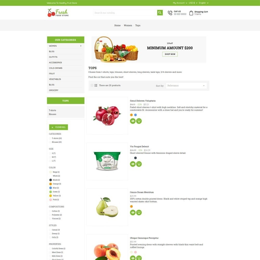 theme - Eten & Restaurant - Fresh Food Store - 5