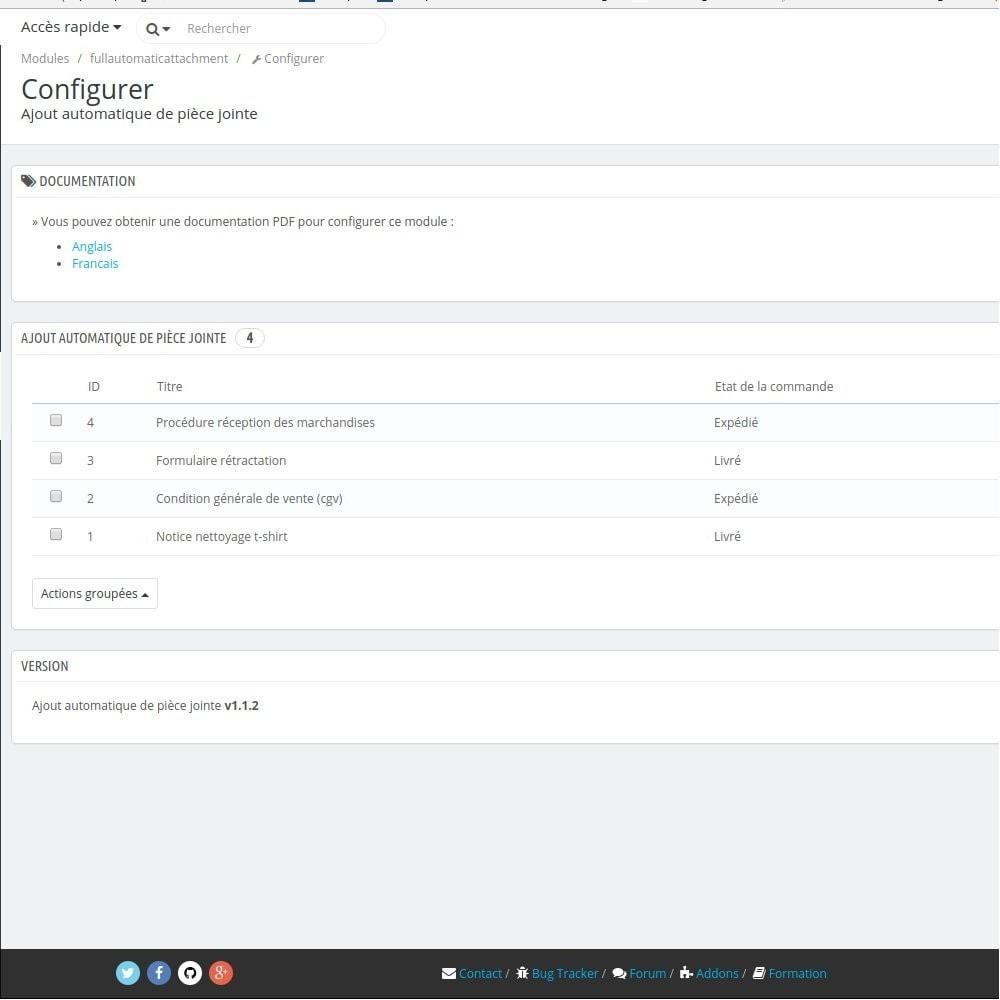 module - E-mails & Notifications - Fullautomaticattachment - Envoi de document automatisé - 2