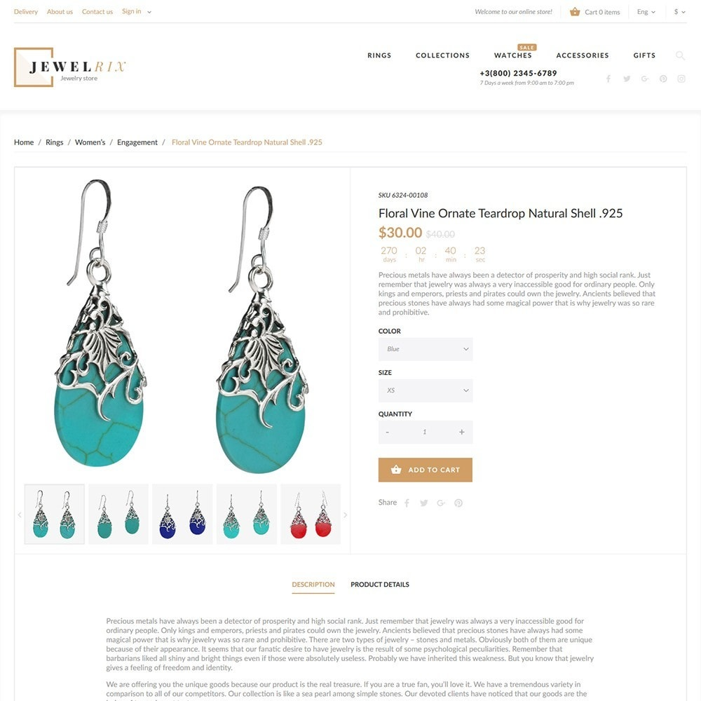 theme - Moda & Calçados - Jewelrix - Jewelry & Beauty Items PrestaShop Theme - 6