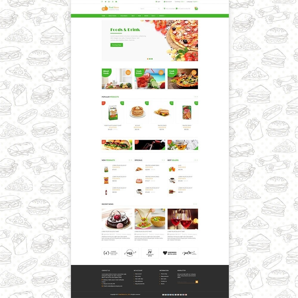 theme - Alimentos & Restaurantes - Food store - Fresh foods,  drinks and fruit store - 2