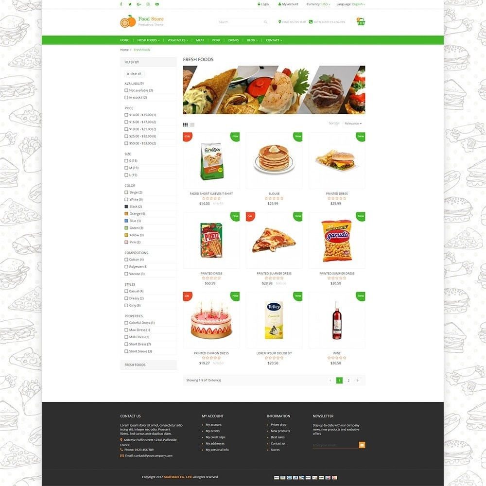 theme - Żywność & Restauracje - Food store - Fresh foods,  drinks and fruit store - 3