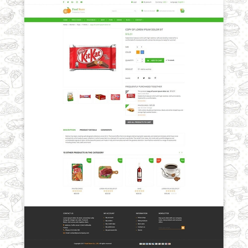 theme - Alimentos & Restaurantes - Food store - Fresh foods,  drinks and fruit store - 4