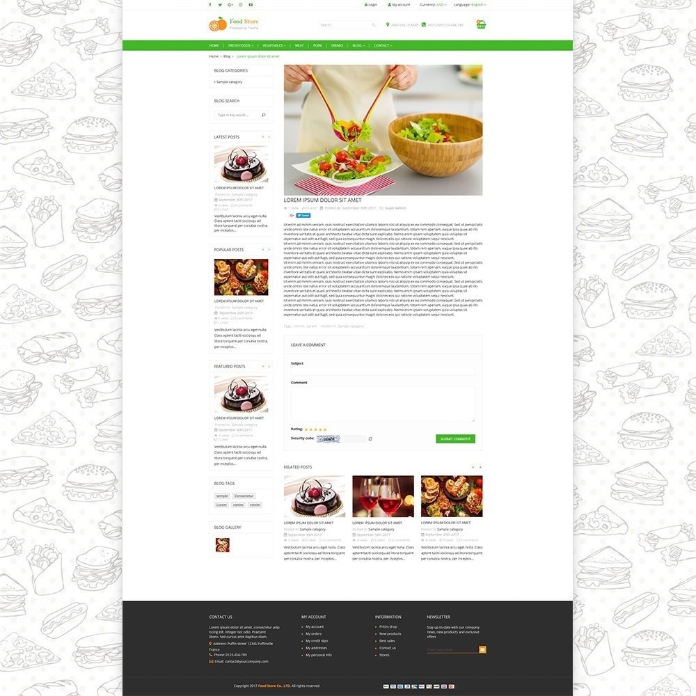 theme - Alimentos & Restaurantes - Food store - Fresh foods,  drinks and fruit store - 6