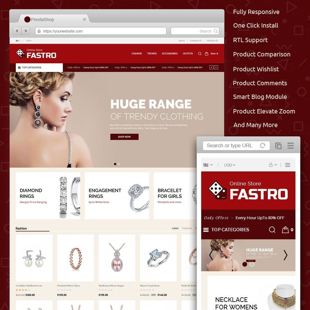 theme - Jewelry & Accessories - Fastro Jewellery Store - 1
