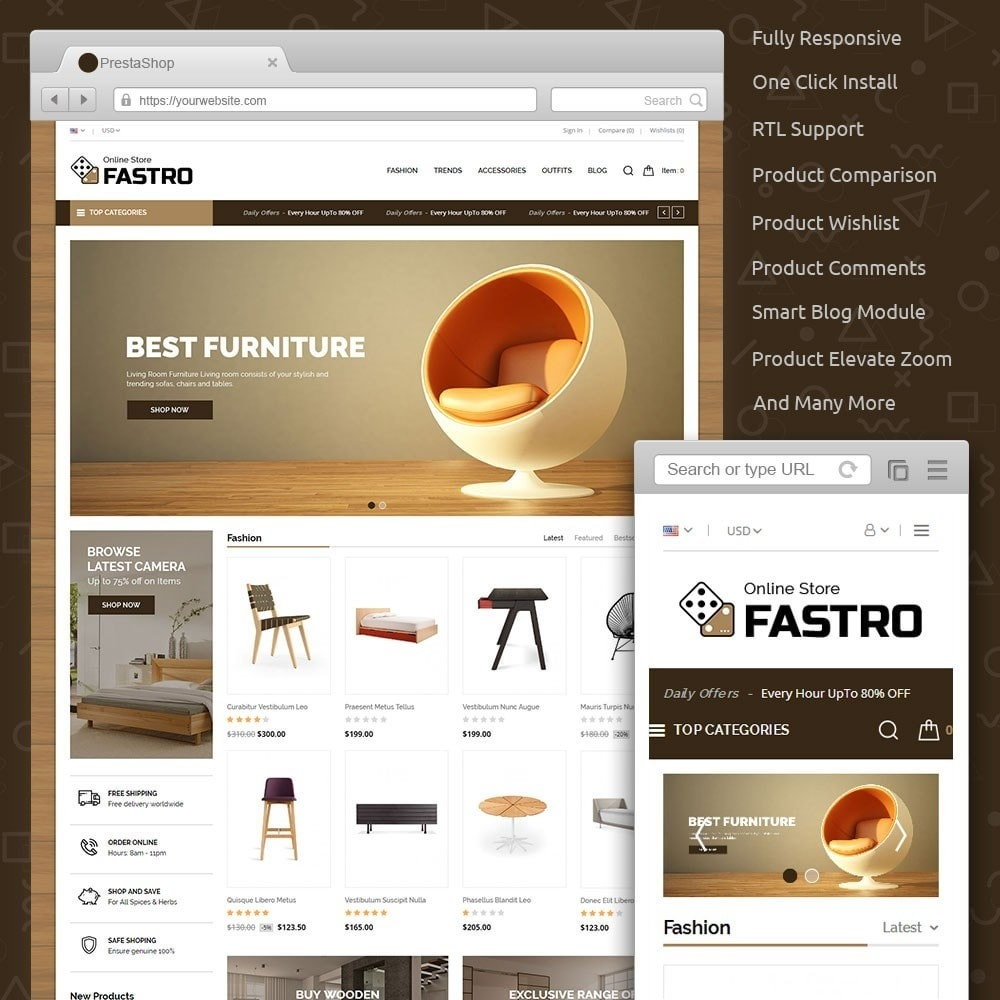 theme - Casa & Jardins - Fastro Furniture Shop - 1