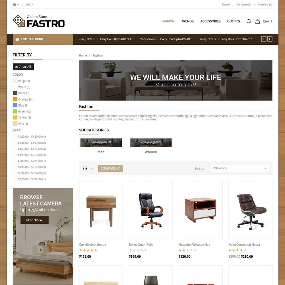 theme - Casa & Jardins - Fastro Furniture Shop - 3