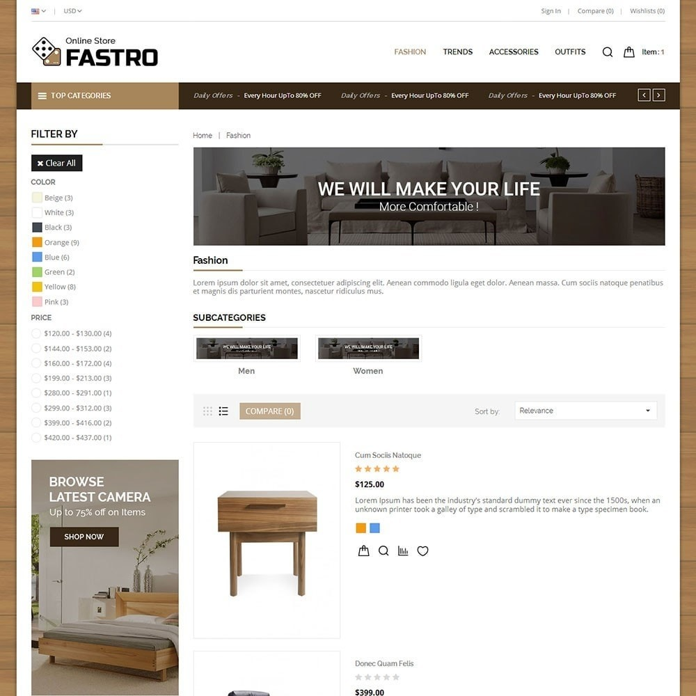 theme - Home & Garden - Fastro Furniture Shop - 4